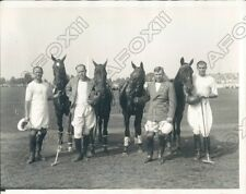 1930 Meadowbrook New York US Team Beat British for Westchester Cup Press Photo