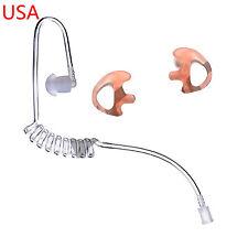 CLEAR ACOUSTIC EAR TUBE +FLESH LEFT RIGHT MEDIUM EARMOLD MOTOROLA RADIO EARPIECE