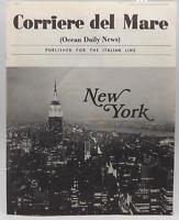 Corriere Del Mare Italian Line Shipboard Newspaper 1971 Magazine