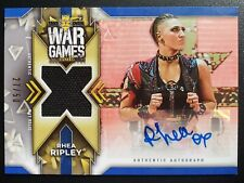 Rhea Ripley 2020 Topps WWE NXT Authentic War Games Autograph 27/50 Mat Relic