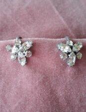 Vintage Austrian Crystal screw on earrings