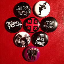 "8 My Chemical Romance 1"" Buttons Paramore Panic at the Disco! MCR FREE SHIPPING"