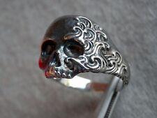 David Yurman Sterling Silver Waves Small Skull Ring Size 8