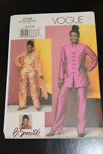 Vogue Pattern B. Smith #7738 Misses' Tunic, Duster, Top & Pants sizes 20,22,24