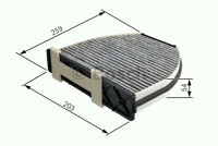 1987432301 BOSCH ACTIVE CARBON CABIN FILTER R2301 [POLLEN FILTERS] NEW IN BOX