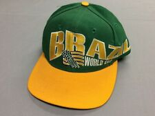 VINTAGE 90S BRASIL BRAZIL 1994 WORLD CUP SOCCER SNAPBACK MENS ADULT HAT ONE SIZE