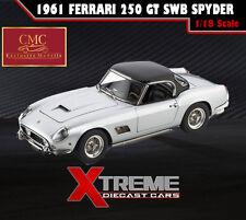 CMC M-093 1:18 1961 FERRARI 250 GT SWB CALIFORNIA SPYDER SILVER