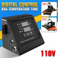 110V HeatPress Machine Digital Control Box-Temperature Time For TShirt Mug Plate