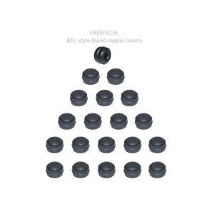 20x ATE Style - Rubber Brake Bleed Nipple Caps Bleed Screw Caps Covers NC3x20
