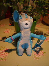 LONDON 2012 OLYMPIC MANDEVILLE SOFT TOY  MASCOT NEW & TAGGED, STICK ON WINDOW