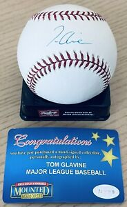 TOM GLAVINE LICENSED MLB/MOUNTED MEMORIES AUTHENTICATED SIGNED NEW MLB BASEBALL