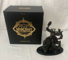 Blizzard World Of Warcraft 10th Tenth Anniversary Gift Wolf Rider Statue CHIPPED