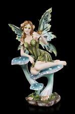Elfen Fantasy Figur - Paige mit Schmetterling   Dekofigur Dekoartikel Fee H 31cm