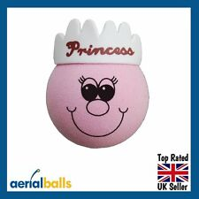 SALE - Pink Princess Car Aerial Ball Topper or use as a Dashboard Wobbler