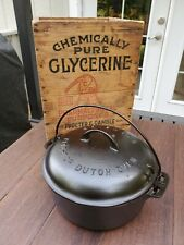 Griswold #8 Cast Iron Tite Top Dutch Oven With Large Block Logo Restored