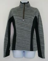Athleta 1/2 Zip Womens Size XS Gray Black Mock Neck Sport Sweater Pullover Top