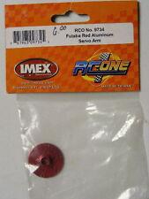 IMEX RC-ONE #9734 RED ALUMINUM CIRCLE SERVO ARM fits FUTABA Servos