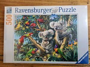 Jigsaw Puzzle Koalas in a tree 500pc ravensburger Birds Parrots Australia Gum