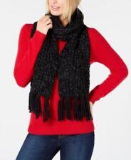 INC Chenille Shine Soft  Black Knitted Winter Fashion Scarf