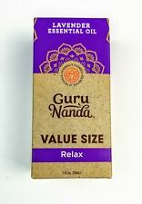 Guru Nanda Lavender Essential Oil, RELAX, New in Box, 1oz