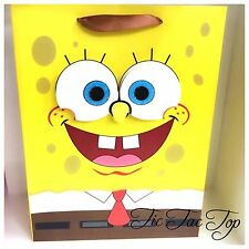 6 X SpongeBob SquarePants PARTY PAPER CARDBOARD LOOT LOLLY GIFT BAGS