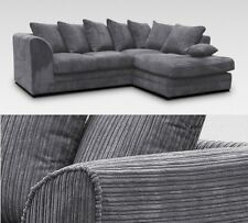 Dyla Right Corner Sofa Grey Fabric Jumbo Cord Lounge Sets