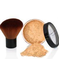 Mineral Make up Foundation Bare Natural Pure Minerals LARGE Size 10g + KABUKI