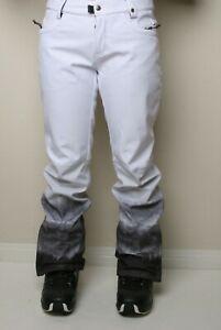 686 Women Gossip Softshell Snowboard Pant (S) White Fade M0W410-WHT