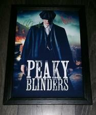 "PEAKY BLINDERS PP SIGNED & FRAMED A4 12X8"" PHOTO POSTER ARTHUR THOMAS SHELBY"