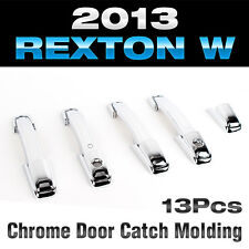 Chrome Door Catch Handle Molding Cover Garnish for SSANGYONG 2013-2015 Rexton W