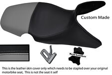 GREY & BLACK CUSTOM 01-07 FITS BMW F 650 GS REAL DUAL LEATHER SEAT COVER