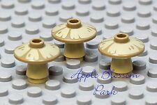 NEW Lego Lot/3 Minifig TAN MUSHROOMS - Hobbit Minifigure Plant - 2x2 Radar Dish