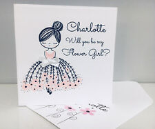 Will you be my Flower Girl Card Custom Made and Personalised with Name and Role