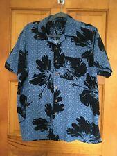 Milano Bay short sleeve button front blue shirt L