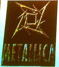 "METALLICA ninja star 4.25""x5"" STICKER DECAL deadstock new old stock"