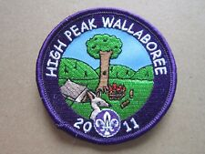 High Peak Wallaboree 2011 Cloth Patch Badge Boy Scouts Scouting L4K C