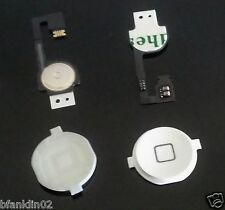 White Home Button With Flex Circuit Cable For iPhone 4 4G