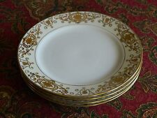 7 Old Noritake Japan CHRISTMAS BALL Gold on Cream 7.5 Salad Plates