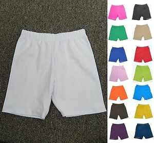US MADE KIDS GIRL'S COTTON SPANDEX BIKE SPORTS LEGGING SHORTS 2 4 6 8 10 12 14