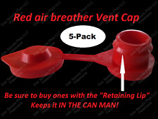 "5-Pk RED VENT CAPS GAS CAN FUEL JUG PLUG WEDCO BLITZ SCEPTER ""fix your can glug"""