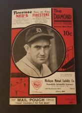 STUNNING! RARE 1935 DETROIT TIGERS VS NEW YORK YANKEES VINTAGE SCORECARD GEHRIG