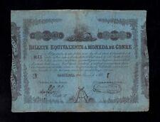F.C. 1000 REALES , BILLETE EQUIVALENTE A MONEDA DE COBRE , 1853 , MBC- .