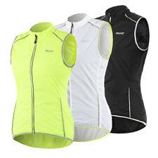 Women Sleeveless Cycling Jacket Windproof MTB Bike Vest Sportswear Reflective