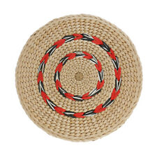 Handmade Round Straw Cushion Meditation Mat Straw Yoga Tatami Cushions 20cm