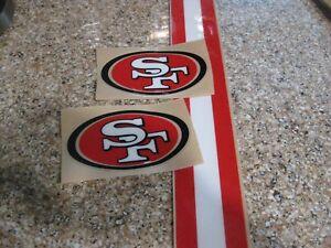 San Francisco 49ers  3M football helmet decals and stripe 20 mil