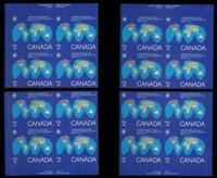 1982 CANADA 2 $ Commonwealth Day BLOCK OF 4 X 4 CORNERS PLATE VALUE 250 SCT.977