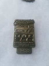 1985 Indianapolis 500 silver Pit Badge