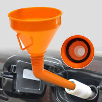 Detachable Flexible Motorcycle.Water Oil Funnel Petrol Diesel With Spout &Filter