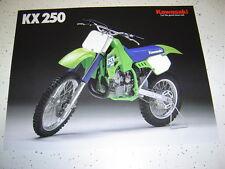 1988 Kawasaki KX250 NOS Sales Brochure 2 Pages.