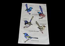 Australian Souvenir Kitchen Cotton Kitchen Tea Towel Australia Blue Wrens Birds